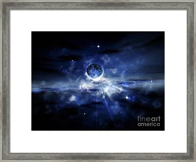 Digitally Generated Image Of A Planet Framed Print by Vlad Gerasimov
