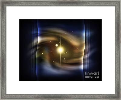 Digitally Generated Image Of Deep Space Framed Print by Vlad Gerasimov