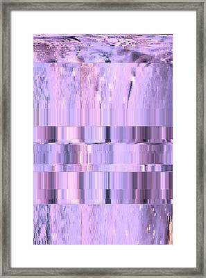 Digitized Purple Framed Print by Colleen Cannon