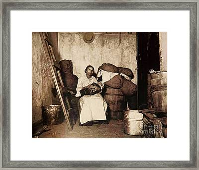 Dignity In Poverty Framed Print