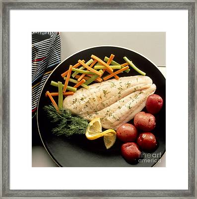 Dilled Fish Fillet Framed Print by Photo Researchers