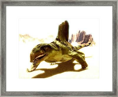 Dimetrodon, Artwork Framed Print by Christian Darkin