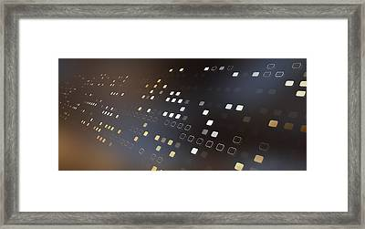 Diminishing Square Pattern Against An Abstract Background Framed Print by Ralf Hiemisch