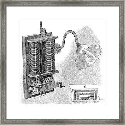 Dimmer Lamp Electrics, 19th Century Framed Print by
