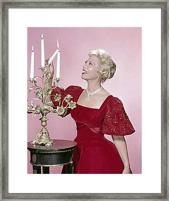 Dinah Shore, 1950s Framed Print by Everett