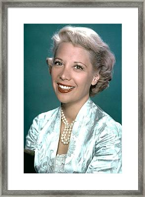 Dinah Shore, Ca. 1950s Framed Print by Everett