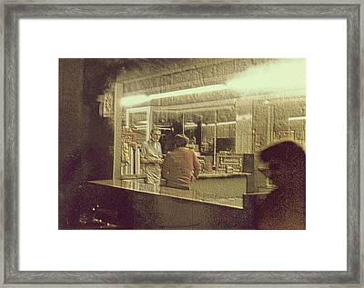 Diner Homage To Hooper Framed Print