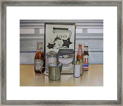 Diner Table Framed Print