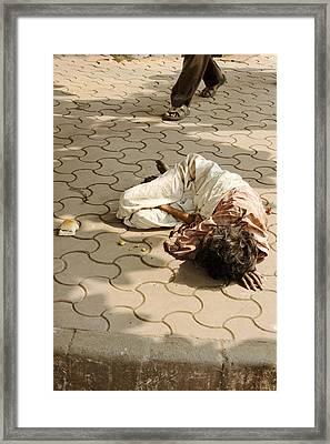 Dining Alone Mumbai Framed Print