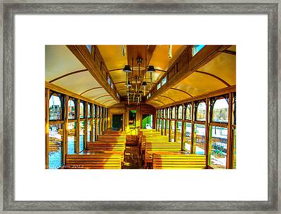 Framed Print featuring the photograph Dining Car by Shannon Harrington