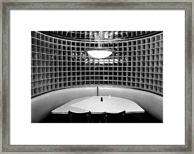 Dining In Black And White Framed Print by David Lee Thompson