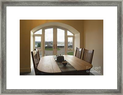 Dining Room Table Framed Print by Iain Sarjeant