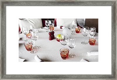 Dining Table. Framed Print by Chavalit Kamolthamanon