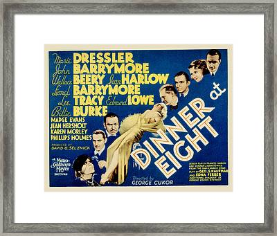 Dinner At Eight, Marie Dressler, John Framed Print