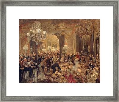 Dinner At The Ball Framed Print by