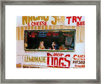 Dinner For Two Atlantic City On The Boardwalk   Framed Print