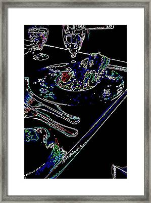 Dinner Table Framed Print by David Alvarez