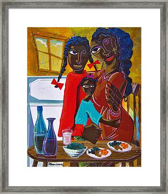 Dinner With Mom Framed Print by Kevin McDowell