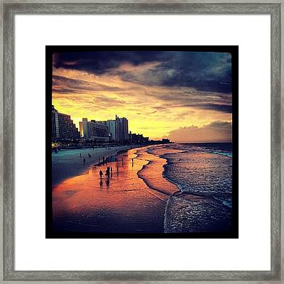 Dinner With My Love <3 Framed Print