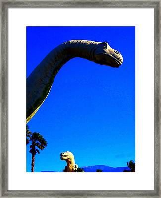Dinny And Mr. Rex Framed Print by Randall Weidner