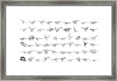 Dinosaur Collection Framed Print by Karl Addison