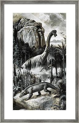 Dinosaurs Framed Print by Roger Payne