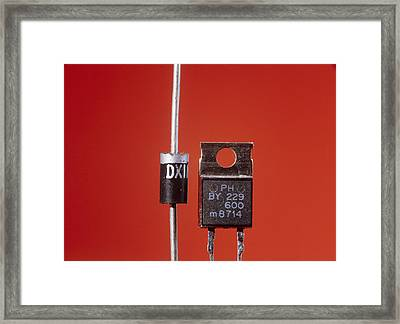 Diodes Framed Print by Andrew Lambert Photography