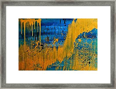 Dipped In Gold Framed Print