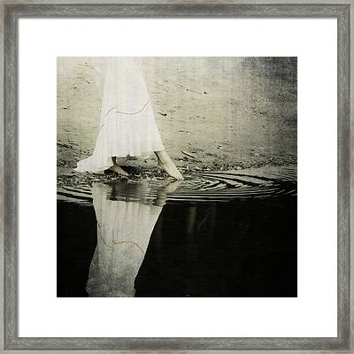 Dipping The Foot Framed Print