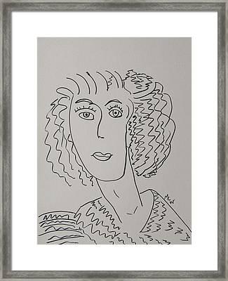 Direct Woman Framed Print