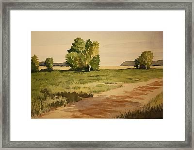 Dirt Road 1 Framed Print