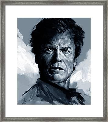 Dirty Harry  - Clint Eastwood  Framed Print by Kiran Kumar