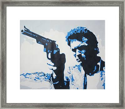 Dirty Harry Framed Print by Luis Ludzska