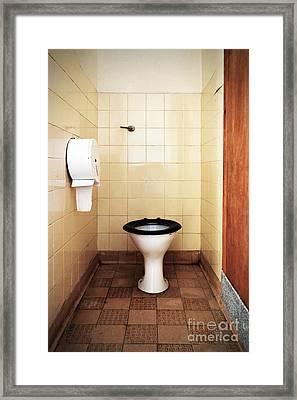 Dirty Public Toilet Framed Print by Richard Thomas