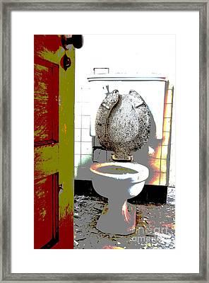 Dirty Seat Framed Print by Luke Moore
