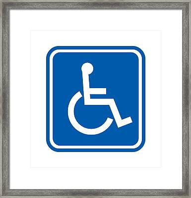 Disability Sign, Computer Artwork Framed Print by