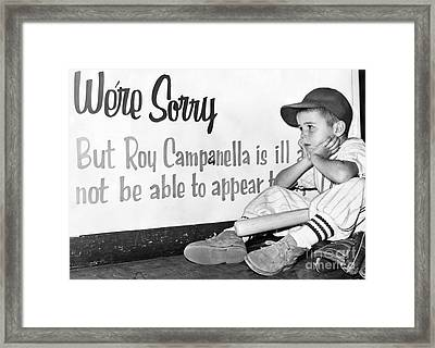 Disappointed Boy, 1957 Framed Print by Granger