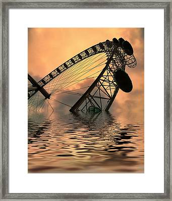 Disaster Framed Print by Sharon Lisa Clarke
