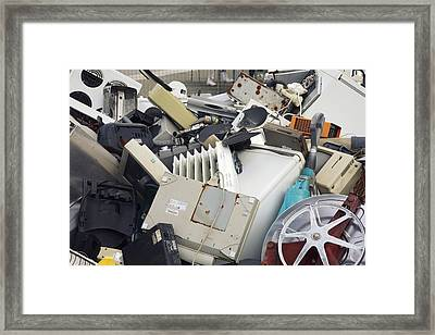 Discarded Electrical Items Framed Print by Victor De Schwanberg