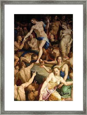 Discesa Di Cristo Al Limbo Framed Print