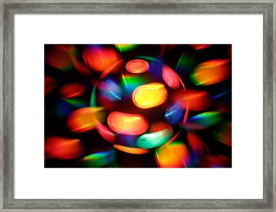 Disco Burst Framed Print