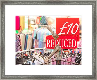 Discount Clothing Framed Print by Tom Gowanlock