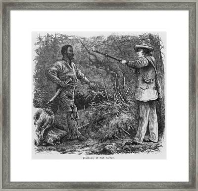 Discovery Of Nat Turner 1800-1831 Framed Print by Everett