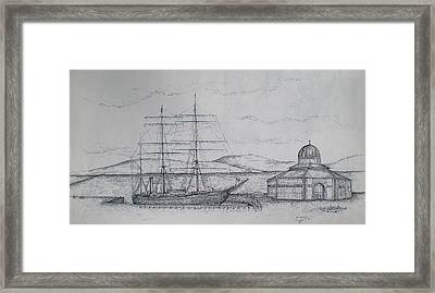 Framed Print featuring the drawing Discovery by Sheep McTavish