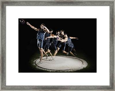Discus Thrower Framed Print by Mike Raabe