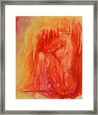 Disintegrated Framed Print by Emily Lounsbury