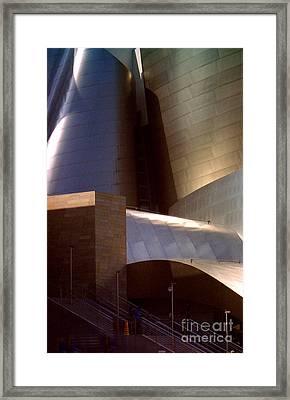 Disney Hall At Dusk Framed Print by Ron Javorsky