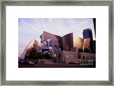Disney Hall Western View Framed Print by Ron Javorsky