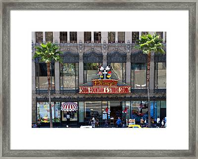Disney In Hollywood Framed Print by Malania Hammer