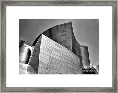 Disney Music Hall Bw II Framed Print by Chuck Kuhn
